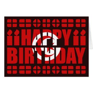 Tarjeta de cumpleaños de la bandera de Túnez