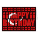 Tarjeta de cumpleaños de la bandera de Turquía