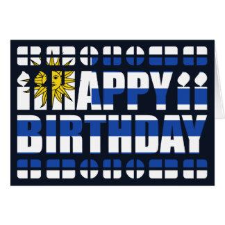 Tarjeta de cumpleaños de la bandera de Uruguay