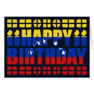 Tarjeta de cumpleaños de la bandera de Venezuela