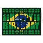 Tarjeta de cumpleaños de la bandera del Brasil