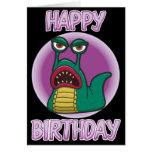 Tarjeta de cumpleaños de la barra del espacio del