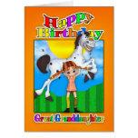 Tarjeta de cumpleaños de la bisnieta - con la empa
