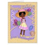 Tarjeta de cumpleaños de la bisnieta - pequeño sol