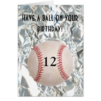 Tarjeta de cumpleaños de la bola del béisbol