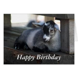 Tarjeta de cumpleaños de la cabra