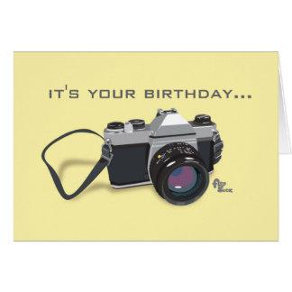Tarjeta de cumpleaños de la cámara