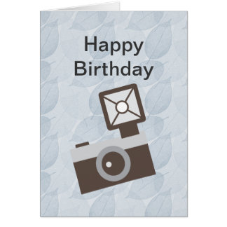 Tarjeta de cumpleaños de la cámara del vintage del