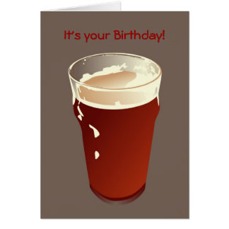 Tarjeta de cumpleaños de la cerveza