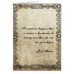 Tarjeta de cumpleaños de la cita de Jane Austen MO