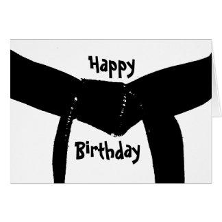 Tarjeta de cumpleaños de la correa negra de los ar