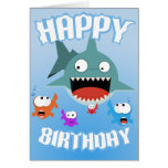 Tarjeta de cumpleaños de la diversión del tiburón
