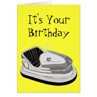 Tarjeta de cumpleaños de la edad de Dodgem