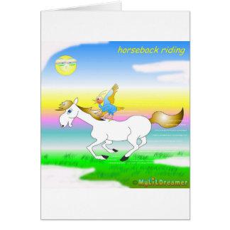 Tarjeta de cumpleaños de la equitación
