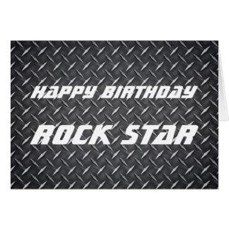 Tarjeta de cumpleaños de la estrella del rock