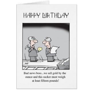 Tarjeta de cumpleaños de la explotación minera
