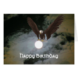 Tarjeta de cumpleaños de la fantasía de la Luna Ll