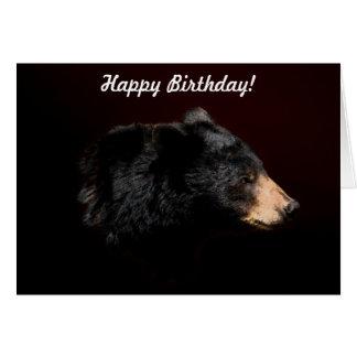 Tarjeta de cumpleaños de la fauna del oso negro