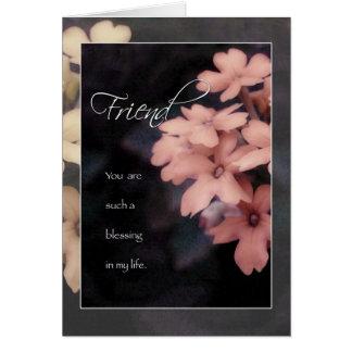 Tarjeta de cumpleaños de la flor del Phlox del