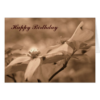 Tarjeta de cumpleaños de la fotografía de la flor