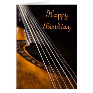 Tarjeta de cumpleaños de la guitarra