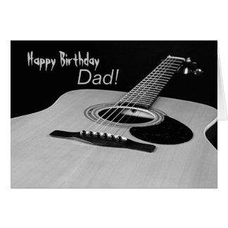 Tarjeta de cumpleaños de la guitarra para el papá
