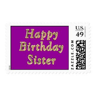 Tarjeta de cumpleaños de la hermana del feliz sellos