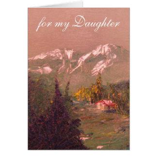Tarjeta de cumpleaños de la hija