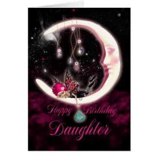 Tarjeta de cumpleaños de la hija con la hada de la