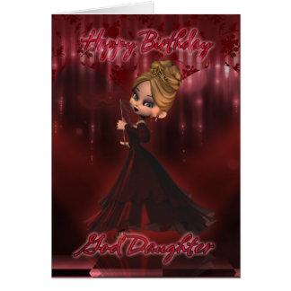 Tarjeta de cumpleaños de la hija de dios con la em
