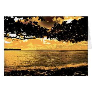 Tarjeta de cumpleaños de la isla del paraíso