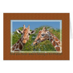 Tarjeta de cumpleaños de la jirafa