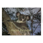 Tarjeta de cumpleaños de la koala