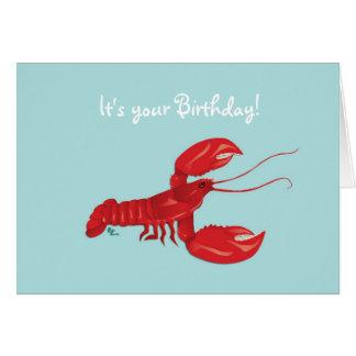 Tarjeta de cumpleaños de la langosta