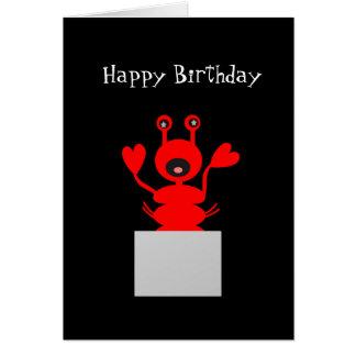 ¡Tarjeta de cumpleaños de la langosta! Estancia Tarjeta De Felicitación