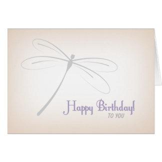 Tarjeta de cumpleaños de la libélula