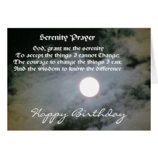Tarjeta de cumpleaños de la Luna Llena del rezo de