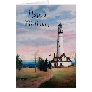 Tarjeta de cumpleaños de la luz del punto del vien