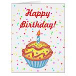 Tarjeta de cumpleaños de la magdalena