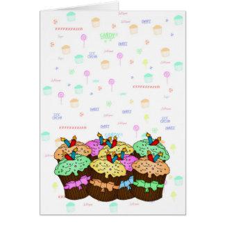 Tarjeta de cumpleaños de la magdalena - cumpleaños