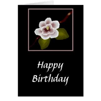 Tarjeta de cumpleaños de la magnolia ampliación d