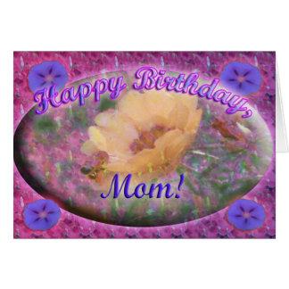 Tarjeta de cumpleaños de la mamá