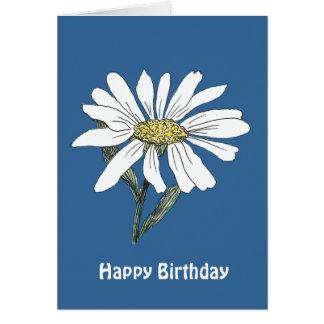 Tarjeta de cumpleaños de la margarita