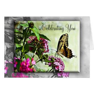 Tarjeta de cumpleaños de la mariposa