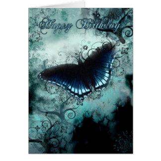 Tarjeta de cumpleaños de la mariposa - cumpleaños