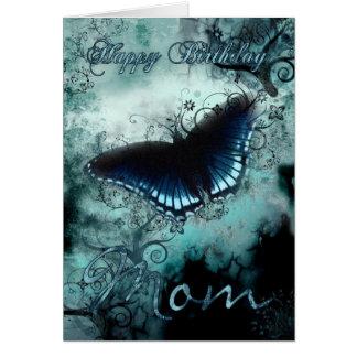 Tarjeta de cumpleaños de la mariposa de la mamá -