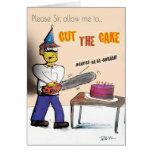 Tarjeta de cumpleaños de la masacre de la torta de