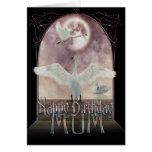 Tarjeta de cumpleaños de la momia - cisnes