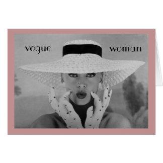 tarjeta de cumpleaños de la mujer de Vogue de los