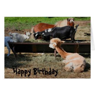 Tarjeta de cumpleaños de la naturaleza de los amig